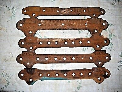 5 Cast Iron Wall Mount Sink Brackets Hangers STANDARD & US Vtg Plumbing Parts