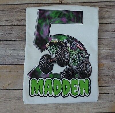 Monster truck jam birthday party invitations favors 1495 picclick grave digger birthday shirt monster truck birthday monster jam shirts filmwisefo Gallery