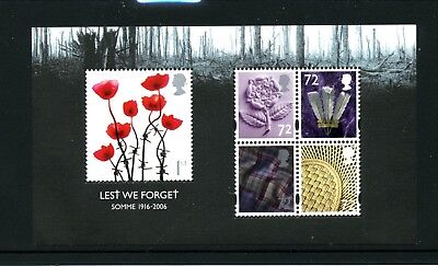 GREAT BRITAIN   MNH   2418   Battle of Somme S/S      HK712
