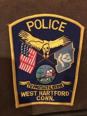West Hartford CT Connecticut Police Patch