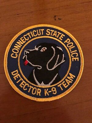Connecticut State Police Ct Detector Dog K9 Canine Unit Patch