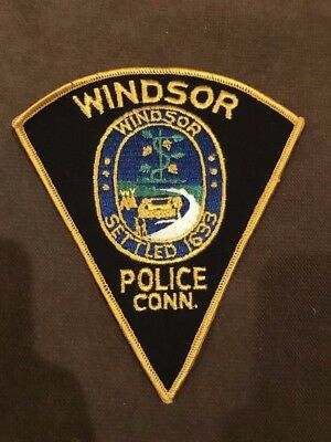 Windsor Connecticut CT Police Patch