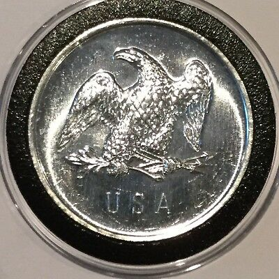 High Relief American Silver Eagle 1 Troy Oz .999 Fine Silver Round Coin Vintage