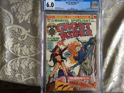 Marvel Spotlight 11--Ghost Rider!  Death of Witch-Woman! CGC 6.0