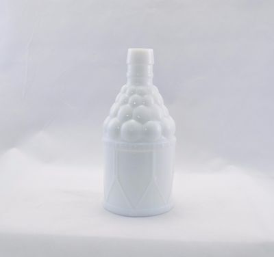 Vintage McGIVER'S AMERICAN ARMY BITTERS Milk Glass Bottle WHEATON NJ