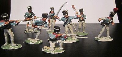 RARE OLD Vintage Toy Soldiers Lot of 8  Made in England English French Regiment