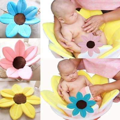 Baby Infant Blooming Bath Lotus Flower Bath Tub Baby Soft Safety Sink Shower Mat