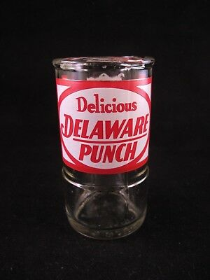 YAVA Glass - UPCYCLED Rare Vintage DELAWARE PUNCH Beverage Bottle Glass