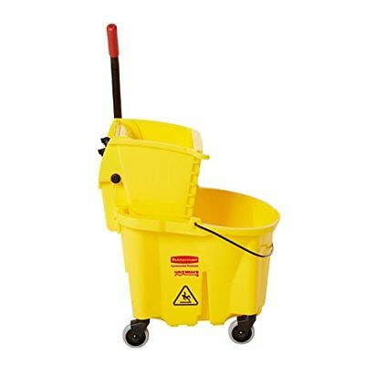 26 Quart Commercial Yellow Mopping Bucket Cleaning Mop Cleaner Maid Side-press