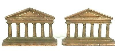 Pair Of Bronze Finish Cast Iron Classical Column Bookends