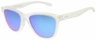 Oakley Women's Moonlighter Sunglasses  Frost | Sapphire Iridium Lens 9320-03