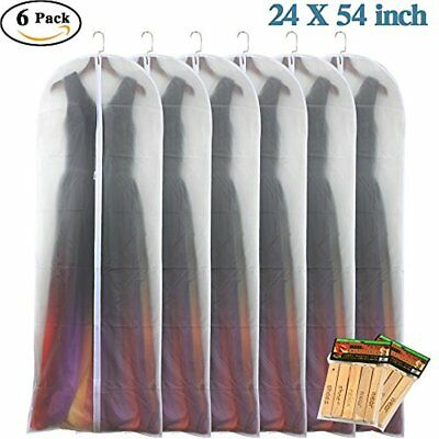 Clear White Garment Bag 24'' X 54'' Breathable Moth Proof Lightweight Dust Bags