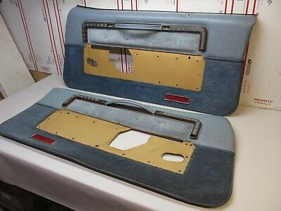 Main Front Door Panels And Trims Less Pockets - Pair  1977 Olds 98 77On1-4T1