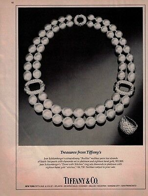 1984 Tiffany and Co Jean Schlumberger Buckle Necklace Jewelry Vintage Print Ad