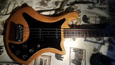 """Guild Bass B 302-A 4 string 34"""" bass with hard shell case"""