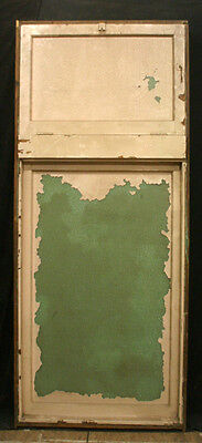 """2avail 34""""x81 Antique Vintage Wood Wooden Casement Window Transom Textured Glass"""
