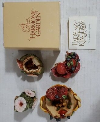 Lot of Harmony kingdom figurines - Pomegranate 1999, Morning Glory 1997