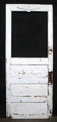 "29""x73.5"" Antique Vintage Wood Wooden Exterior Entry Side Back Door Window Panel"