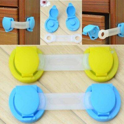 5 PC Extended Lock Refrigerator Protection Lock Cabinet Door Children Baby Care