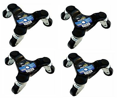 4 x 3 Wheel Wheeled Castor Dolly Appliance Movers Move Casters Moving Aid
