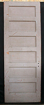 "31.5""x89.5"" Antique Vintage Interior Solid Wood Wooden Door 6 Recessed Panels"