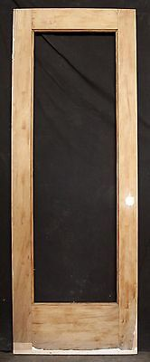 "RESTORED 29""x80"" Antique SOLID Wood Wooden Door Full Length Window No Glass Pane"