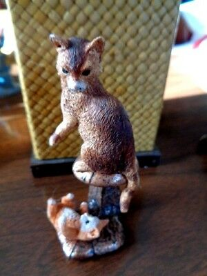 """Heritage Artists Canada Cat And Kitten  3"""" Tall"""