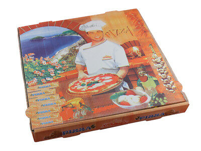 100 Pizzakartons Pizza Karton Pizzabox to go 32 cm Pizzakarton Francia (913232)