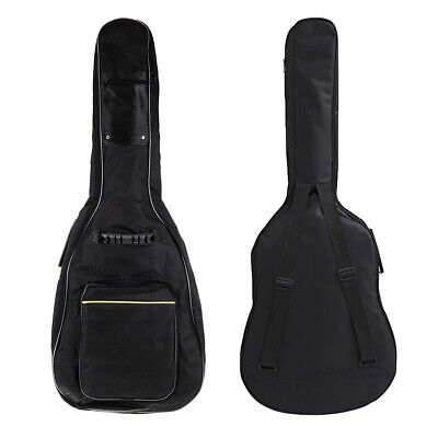 Black Padded Full Size Acoustic Classical Guitar Case Bag Cover Brand New