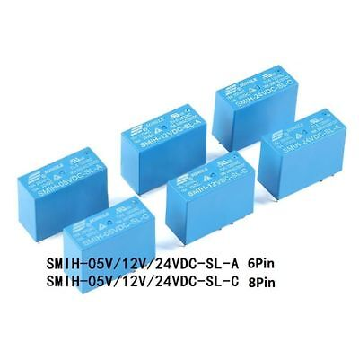 SONGLE Mini Power Relays SMIH-05V 12V 24VDC-SL-A -SL-C 6-Pin 8-Pin 16A PCB