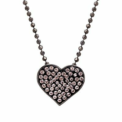 Crystaluxe Heart Pendant with Swarovski Crystals in Sterling Silver