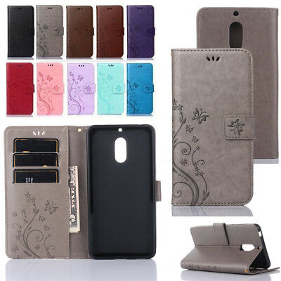 For Nokia 3 5 6 Luxury Leather Magnetic Flip Stand Card Slot Wallet Case Cover