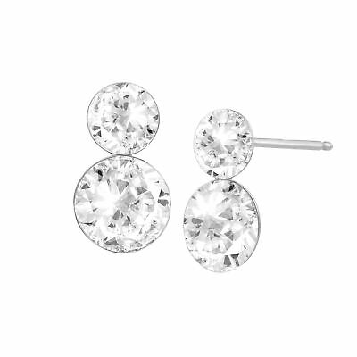 6adfbc94d Crystaluxe Double Drop Earrings with Swarovski Crystals in Sterling Silver