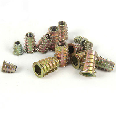 M4/M6/M8 Alloy Thread For Wood Insert Nut Flanged Hex Drive Head Furniture Nuts
