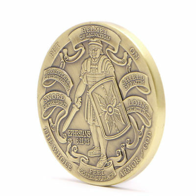 Helmet of Salvation Put on The Whole Armor of God Commemorative Coin Collectible