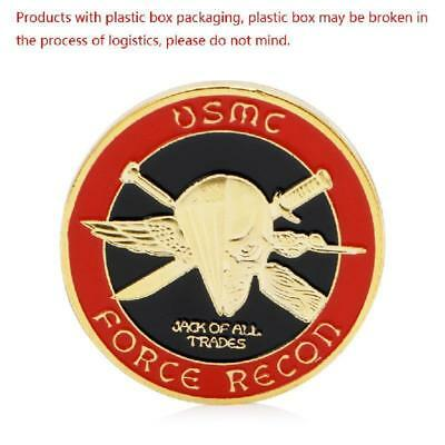 Golden U.S. Marine Corps Core Force Recon Challenge Commemorative Coin Gift Art