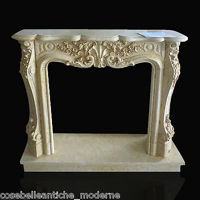 Fireplace Classic in Marble Yellow Stone L130cm