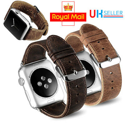 Luxury Retro Leather Sport Strap Bracelet Band for Apple Watch iWatch 38MM/42MM