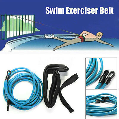 Swim Bungee Trainer Tether Belt Resistance Leash Stationary Swimming System AU