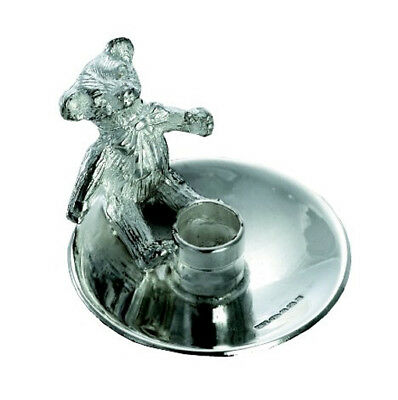 Silver Christening Candle Holder.  Childrens Silver Birthday Cake Candle Holder