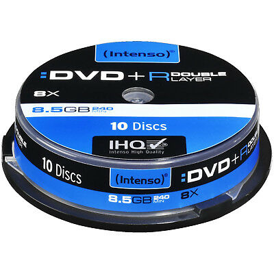 INTENSO 4311142 DVD+R Double Layer Rohlinge 10 Stück