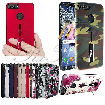 For Huawei P8 LITE 2017 PRA-LA1 New PC Shock TPU Gel Ring Stand Phone Case Cover