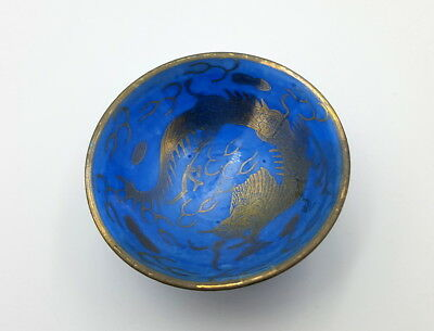 Early 20th century Japanese Powder blue and gild Dragon bowl