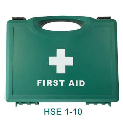 Workplace 1-10 Person HSE Compliant First Aid Kit  Plus FREE CPR Resus Shield