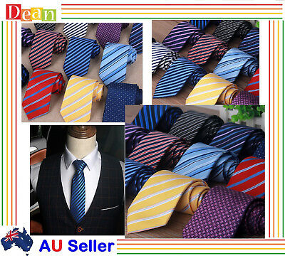 Mens Patterned Business Formal Ties Striped Woven Silk Tie Necktie Deign Pattern