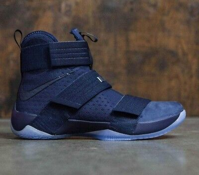 the latest e9fa4 3aa99 MENS NIKE NIKE Lebron Soldier 10 X SFG Sneakers New, Midnight Blue  844378-444