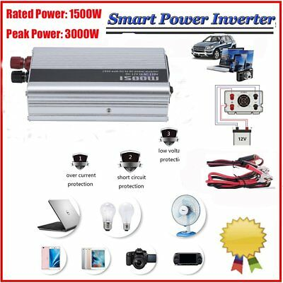 Solar Power Inverter 3000W Peak 12V DC To 110V AC Modified Sine Wave Converter