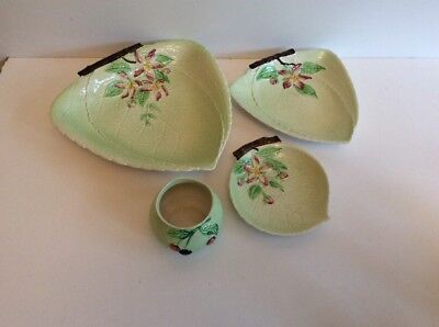 Carlton Ware Apple Blossom Leaf Pattern Dishes/ Plates Set Of Three