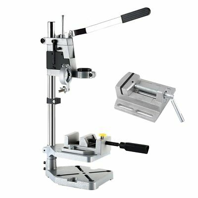 NEW Precision Drill Stand + Manual 2.5 Inch Bench Vise Table Flat Clamp-On Plier