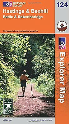Hastings and Bexhill (Explorer Maps) (OS Explorer Map), Ordnance Survey, Used; G
